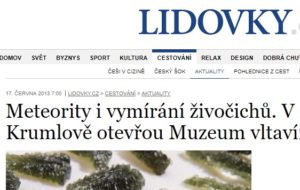 Napsali o Muzeu vltavínů
