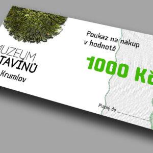 Voucher v hodnotě 1000 Kč